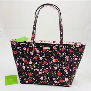 BNWT Kate Spade Leather Floral Handbag